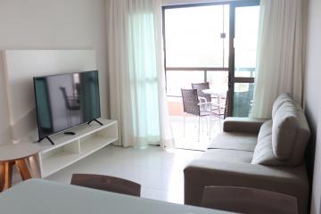 Apartamento com excelente localização em Porto de Galinhas, à 50 metros do mar.  O apartamento possui 62m², varanda, dois quartos sendo 1 suíte, sala para dois ambientes, box, armários. Apartamento mobiliado. O empreendimento possui 4 apartamentos por andar, elevador, piscina, churrasqueira. Agende sua visita!